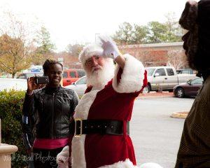 Santa giving me the bird...