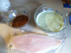 Swai, rub and sauce...