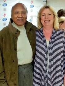 Mayor Al King and me.