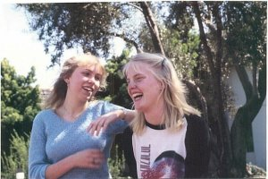 Me (on the left) with my hometown girl, Ally. Circa 1982. Yeah, I know...forever ago...
