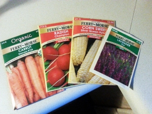 These are going to provide veggies this summer!