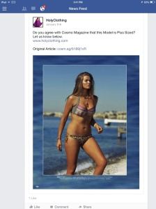 Plus size? You're kidding, right?