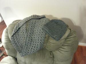 A grey set...