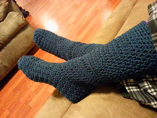 Slipper Socks – Crochet Pattern | Random Musings From a Type-A ...