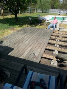 deck during